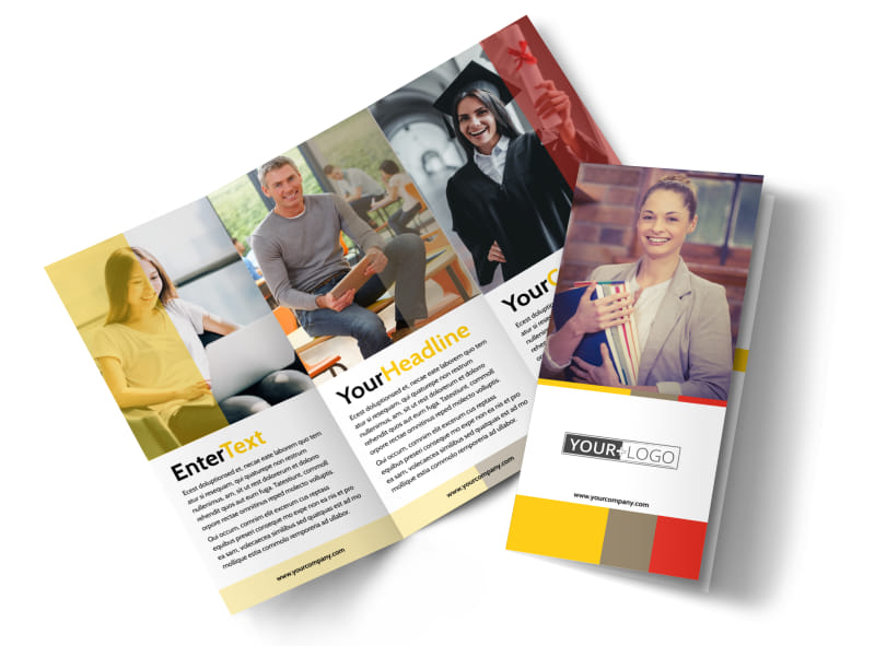 Adult education brochure template mycreativeshop for Tri fold school brochure template