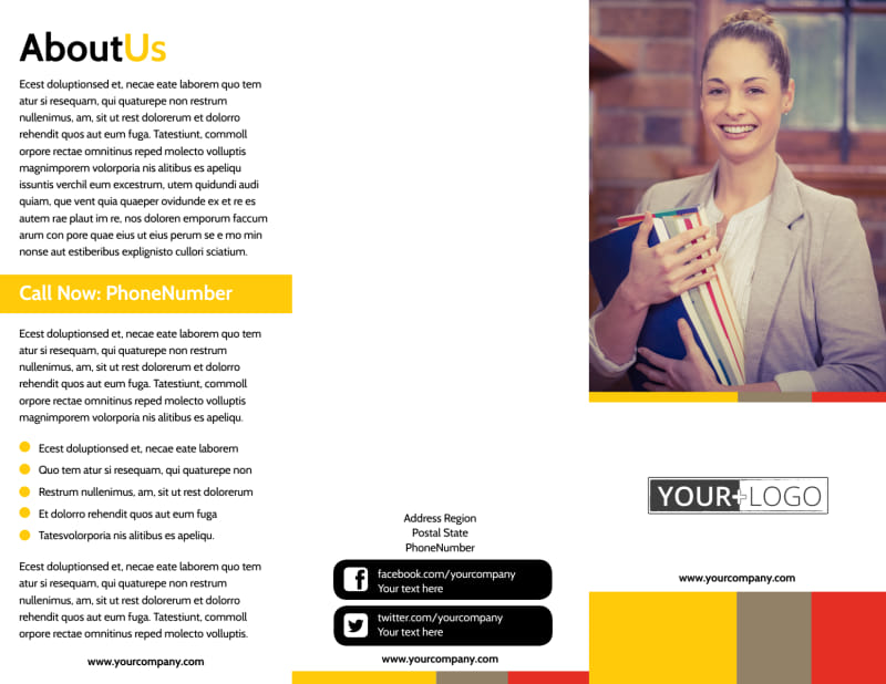 Adult Education Brochure Template Preview 2