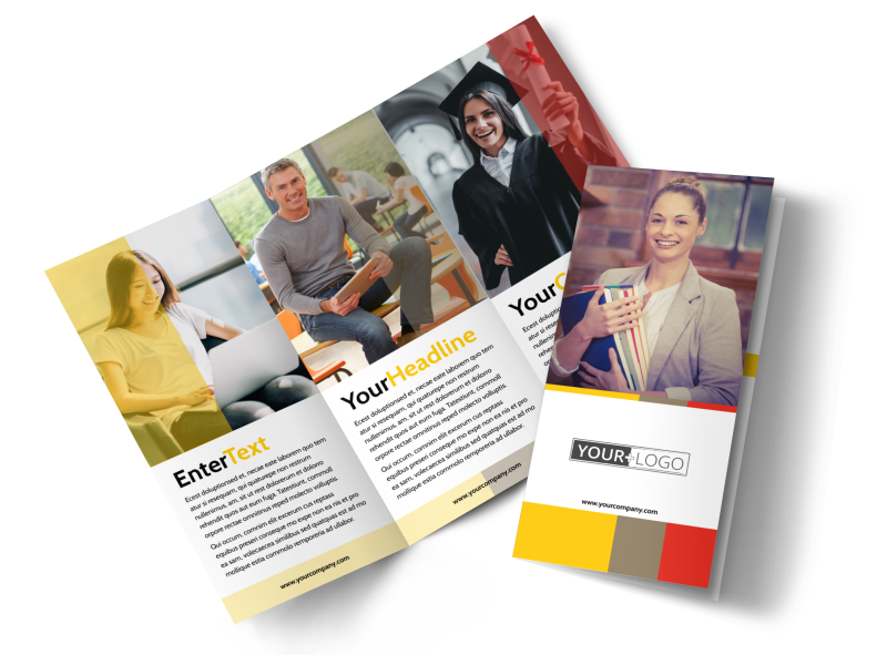 Adult Education Brochure Template Preview 1