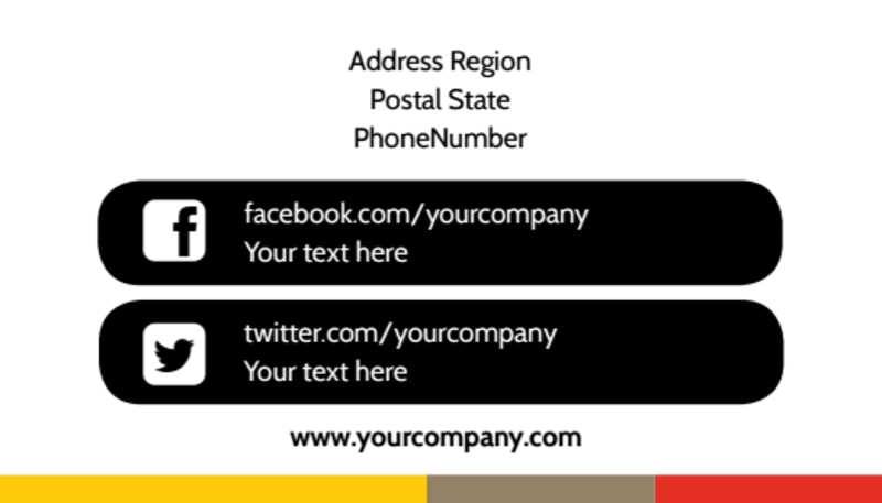 Adult Education Business Card Template Preview 3