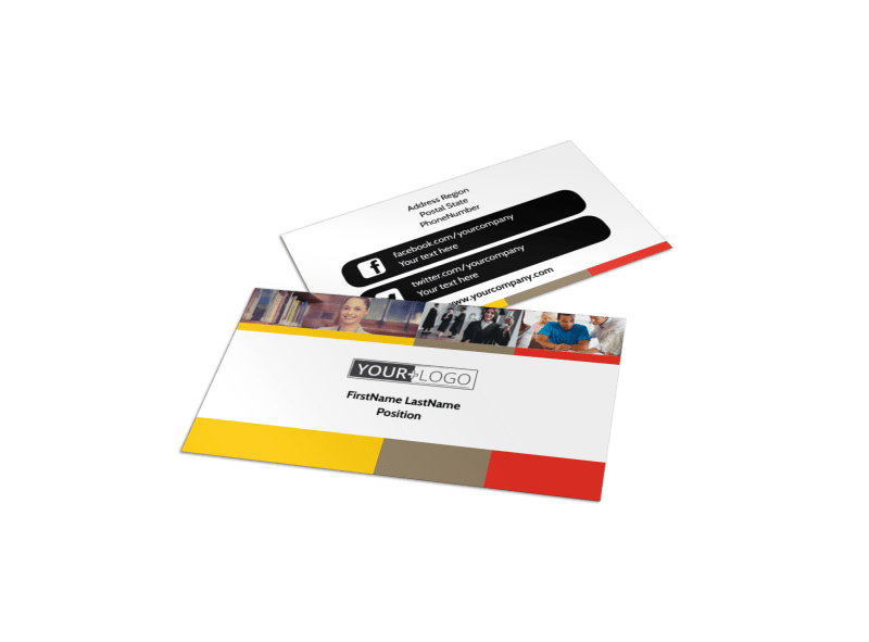 Adult Education Business Card Template Preview 1