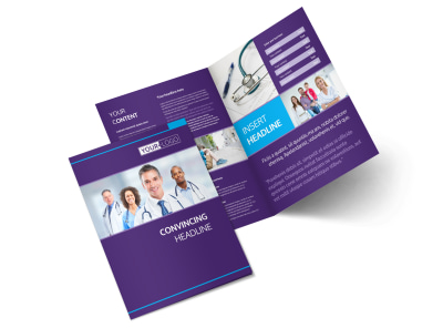 Pediatrician & Child Care Bi-Fold Brochure Template 2