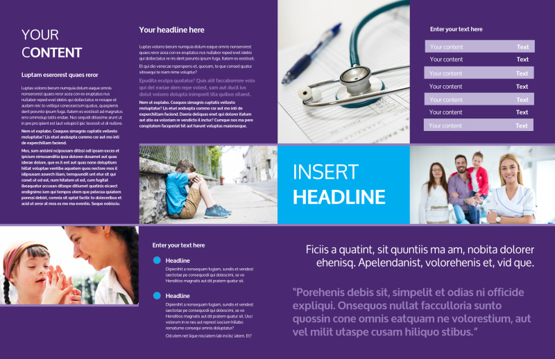 Pediatric Care Brochure Template Preview 3