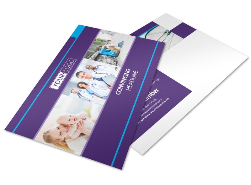 Pediatrician & Child Care Postcard Template