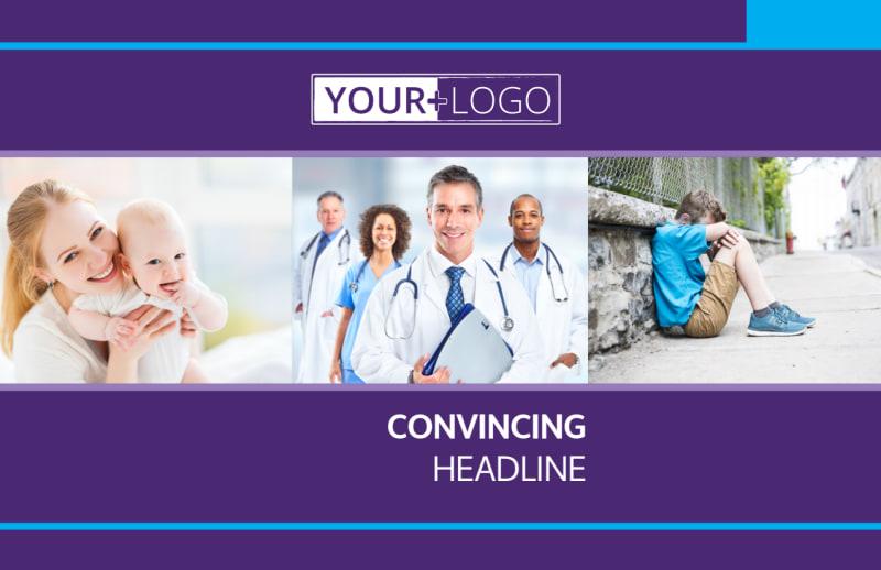 Pediatric Care Postcard Template Preview 2