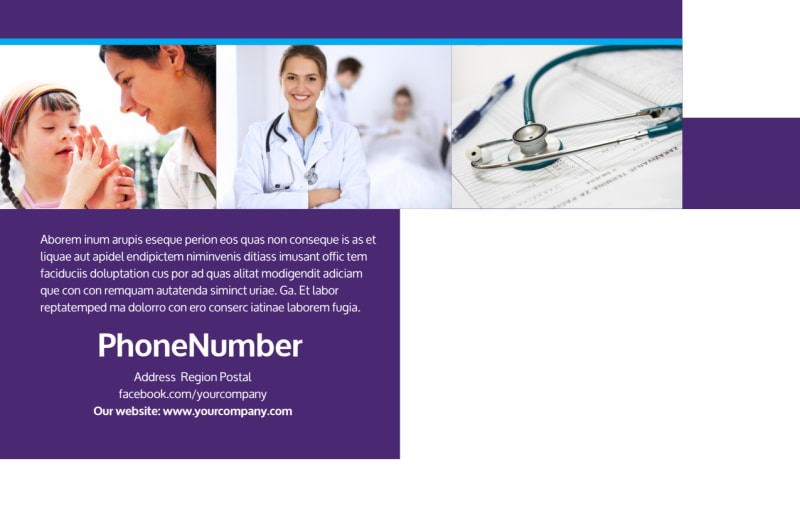 Pediatric Care Postcard Template Preview 3