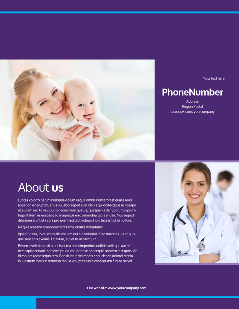 Pediatric Care Flyer Template Preview 3