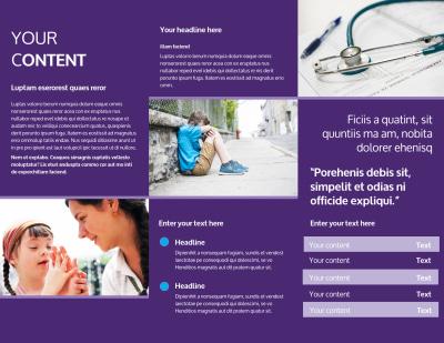 Pediatric Care Brochure Template Preview 2