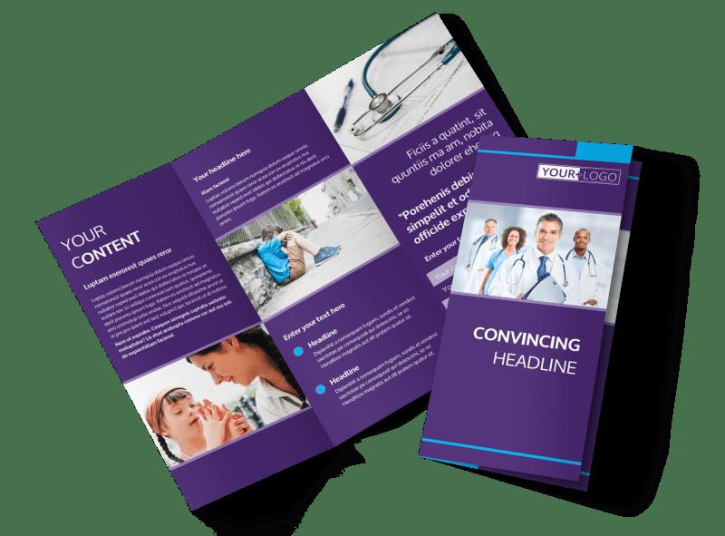 Pediatric Care Brochure Template Preview 1