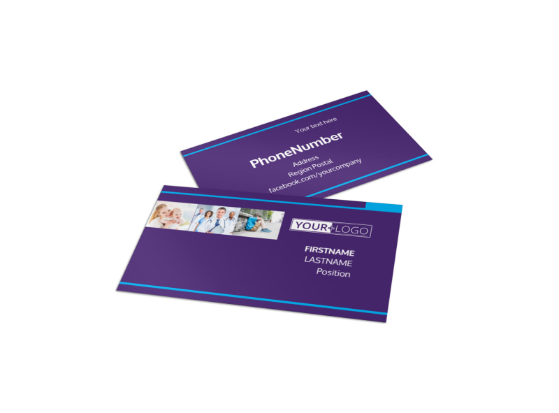 Pediatric Care Business Card Template Preview 4