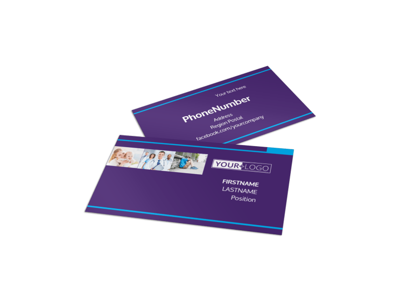 Pediatric Care Business Card Template Preview 1