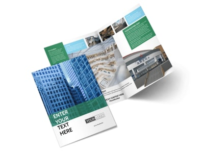 Commercial Real Estate Bi Fold Brochure Template 2