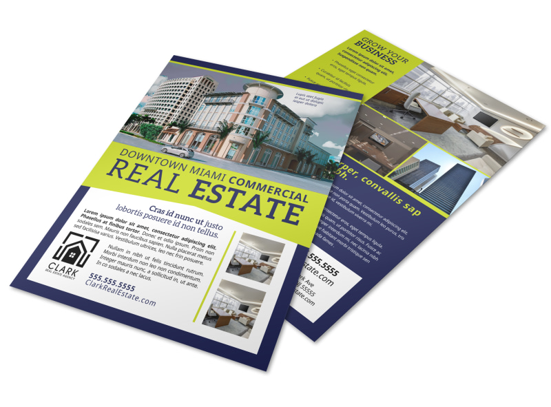 Commercial Real Estate Flyer Template MyCreativeShop - Commercial real estate brochure template