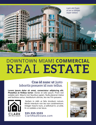 Commercial Real Estate Flyer Template Preview 1
