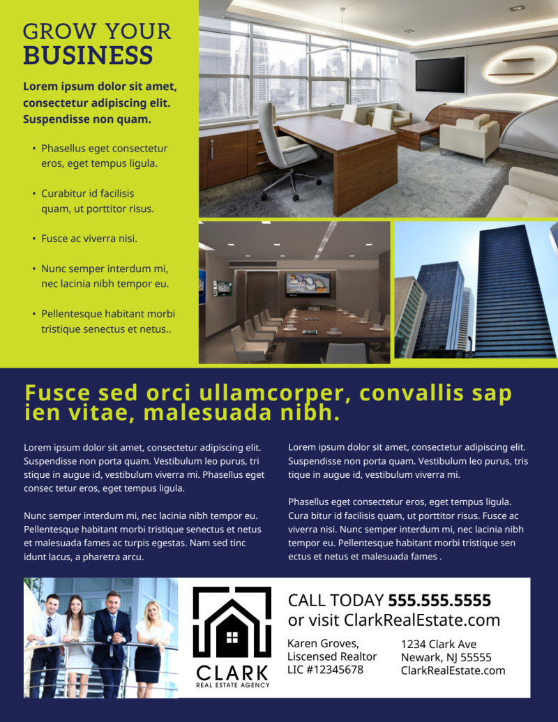 Commercial Real Estate Flyer Template Preview 3