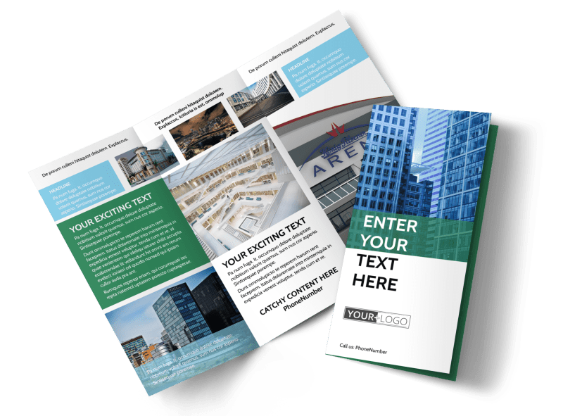 Commercial Real Estate Brochure Template Preview 1