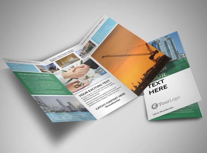 commercial real estate brokers brochure templates metric. Black Bedroom Furniture Sets. Home Design Ideas