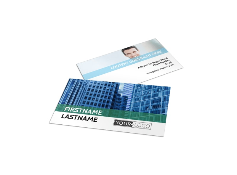 Commercial Real Estate Business Card Template