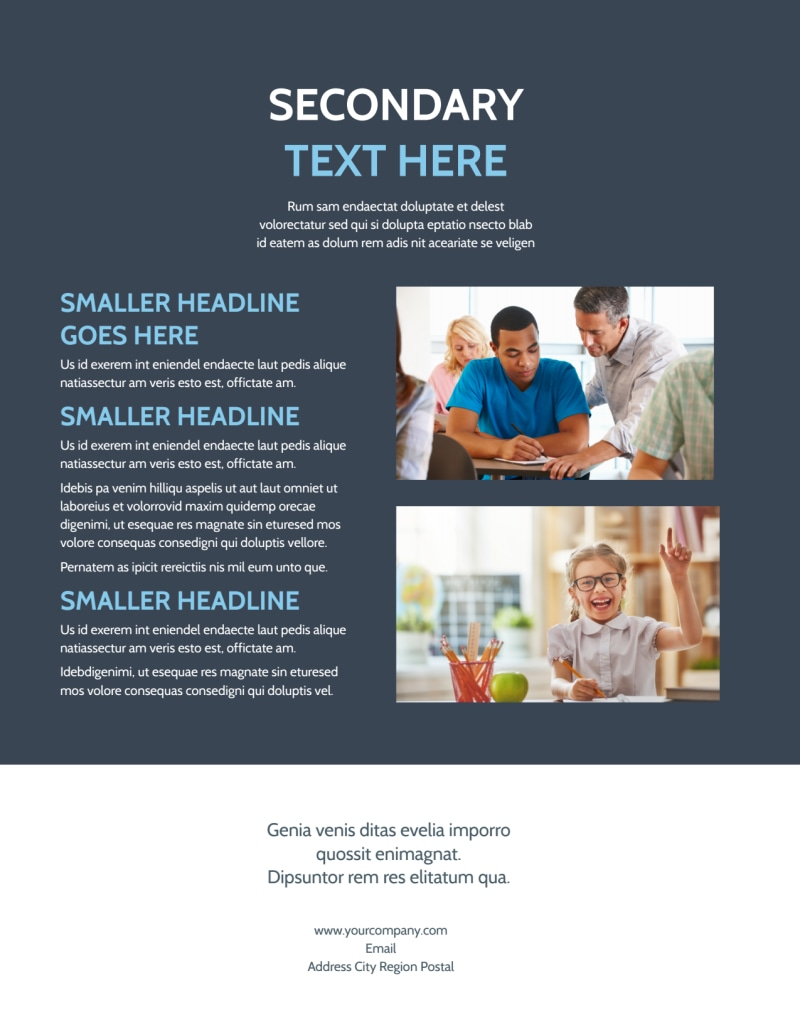 Special Education Flyer Template Preview 3