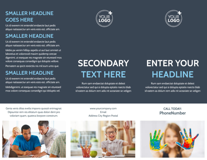 Special Education Brochure Template Preview 2