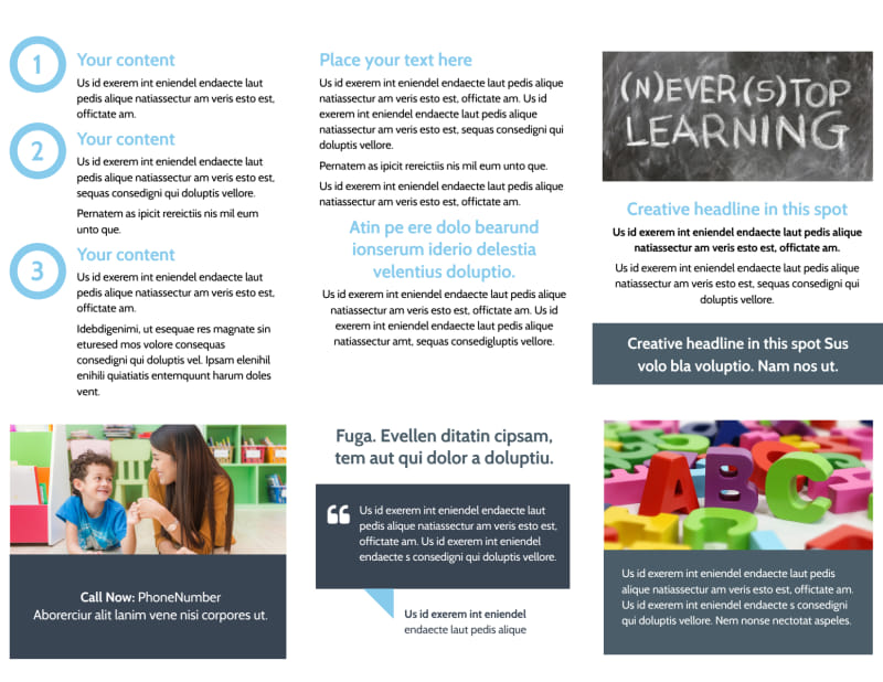 Special Education Brochure Template Preview 3