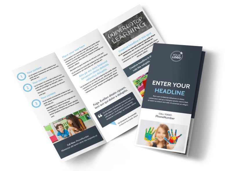 Special Education Brochure Template Preview 1
