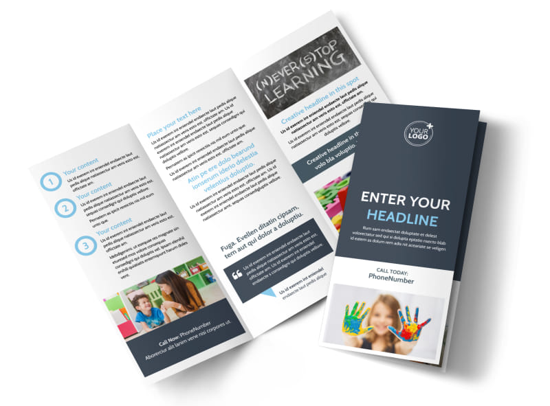 Disabled Children Services Tri-Fold Brochure Template
