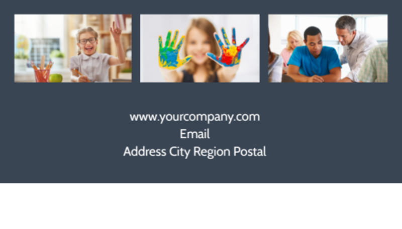 Special Education Business Card Template Preview 3