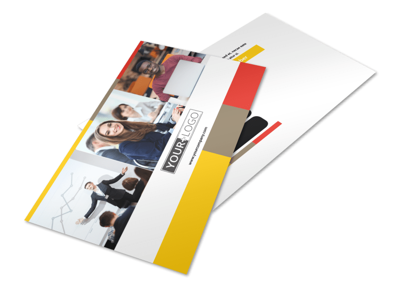 Executive Business Consulting Postcard Template Preview 1
