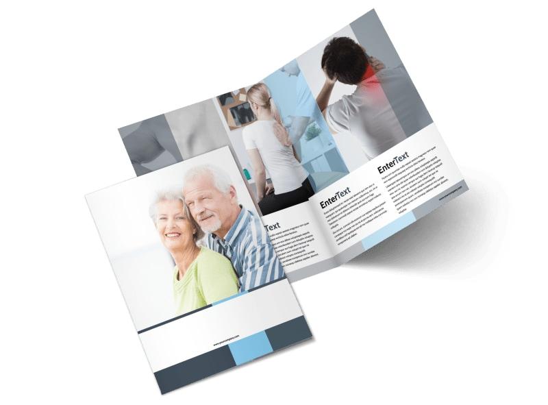 Chiropractor Clinic Bi-Fold Brochure Template 2