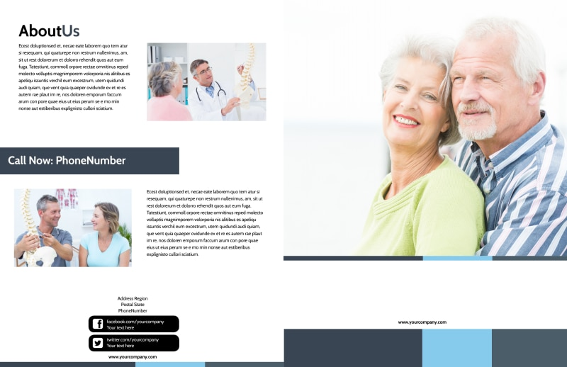 Chiropractor Clinic Brochure Template Preview 2