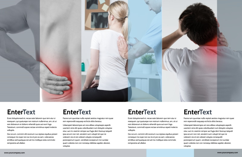 Chiropractor Clinic Brochure Template Preview 3