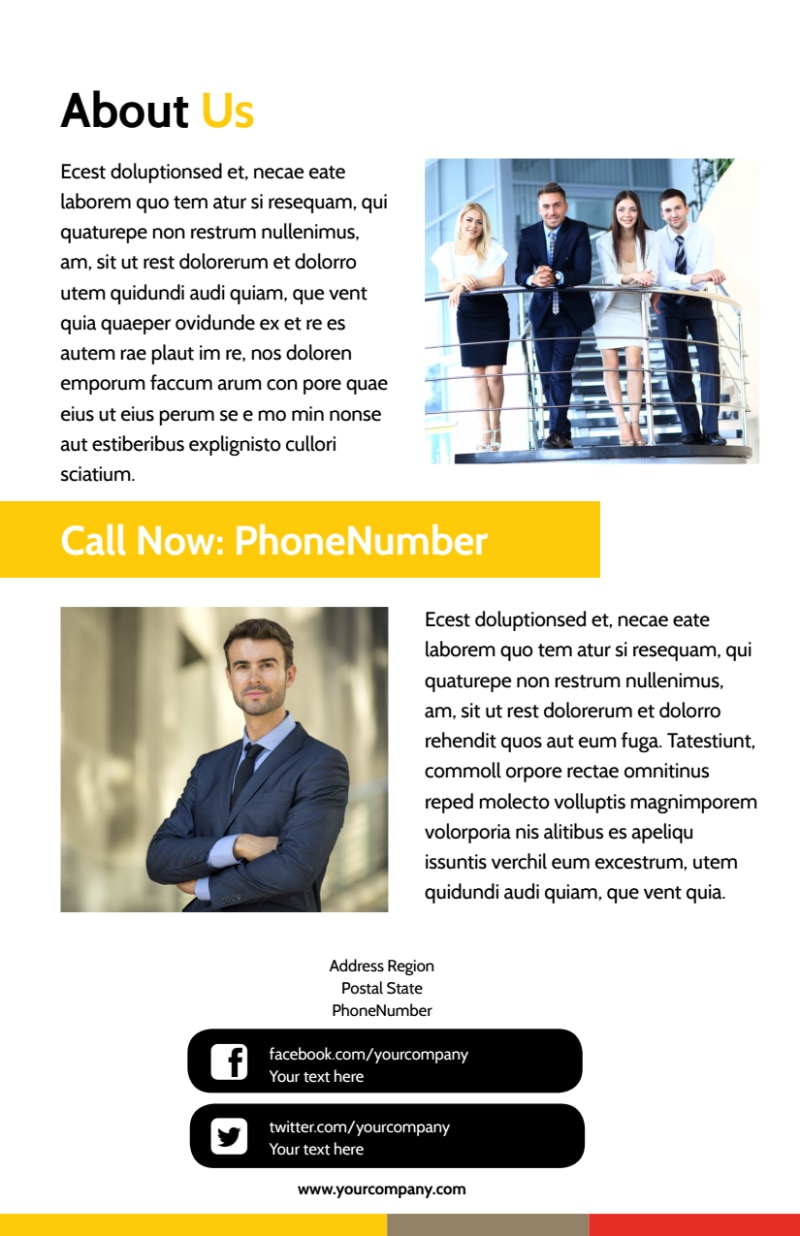 Executive Business Consulting Flyer Template Preview 3