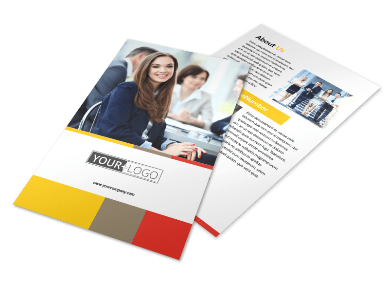 Executive Business Consulting Flyer Template Preview 1