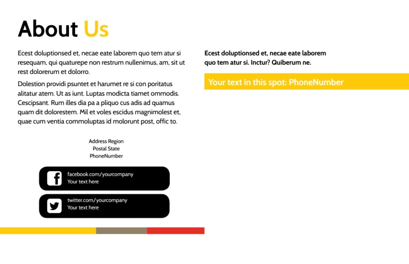 Executive Business Consulting Postcard Template Preview 3
