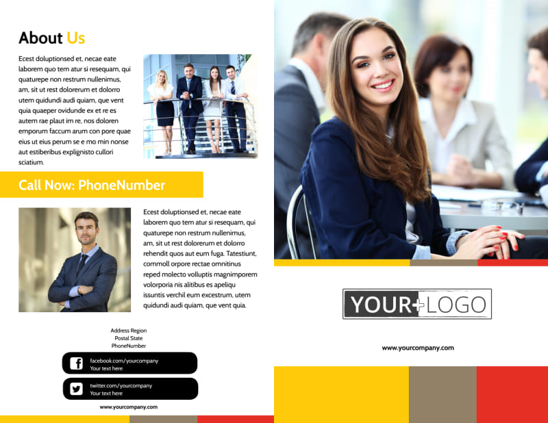 Executive Business Consulting Brochure Template Preview 2