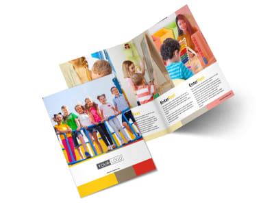 Preschool & Day Care Services Bi-Fold Brochure Template 2