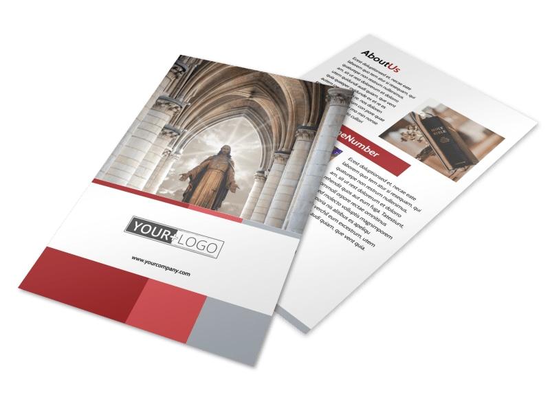 Catholic Church Flyer Template 3
