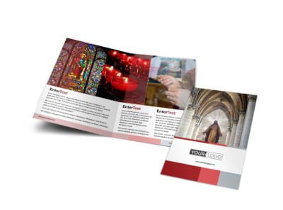 Catholic Church Bi-Fold Brochure Template
