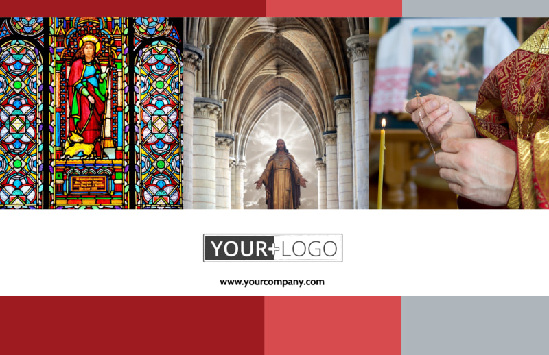 Catholic Church Postcard Template Preview 2
