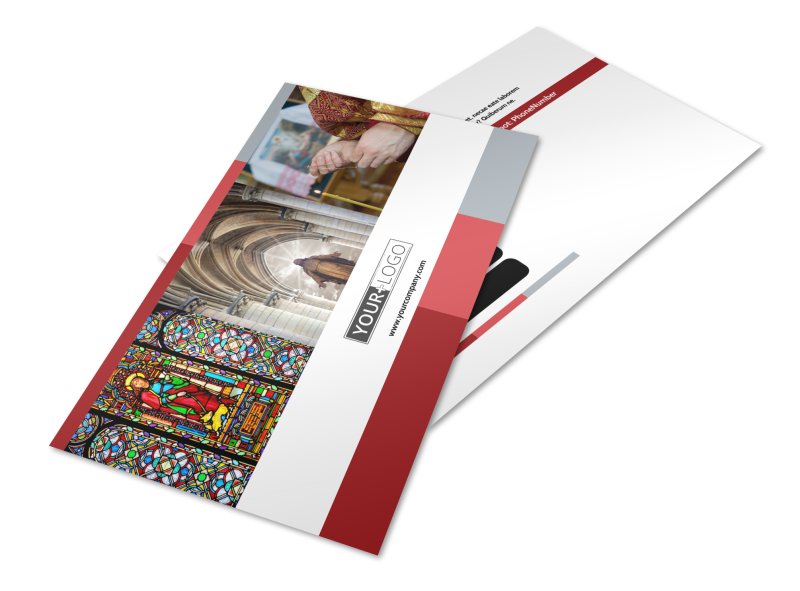 Catholic Church Postcard Template Preview 1
