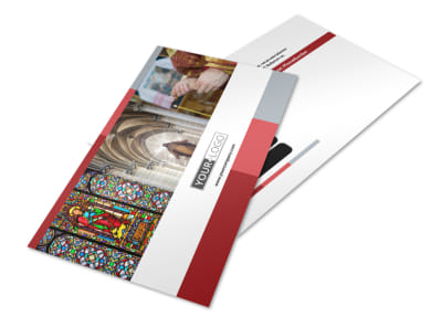 Catholic Church Postcard Template preview