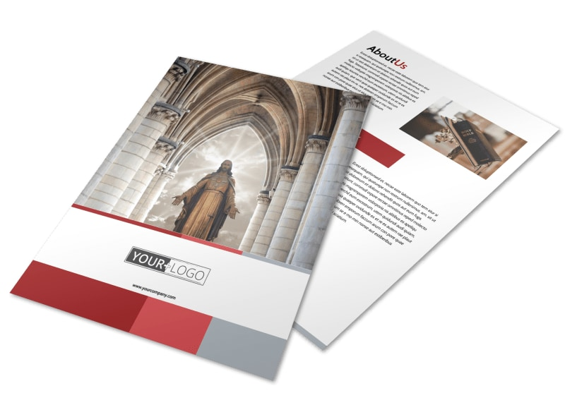 Catholic Church Flyer Template Preview 4