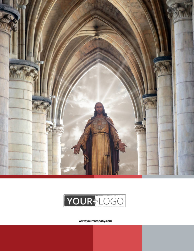 Catholic Church Flyer Template Preview 2
