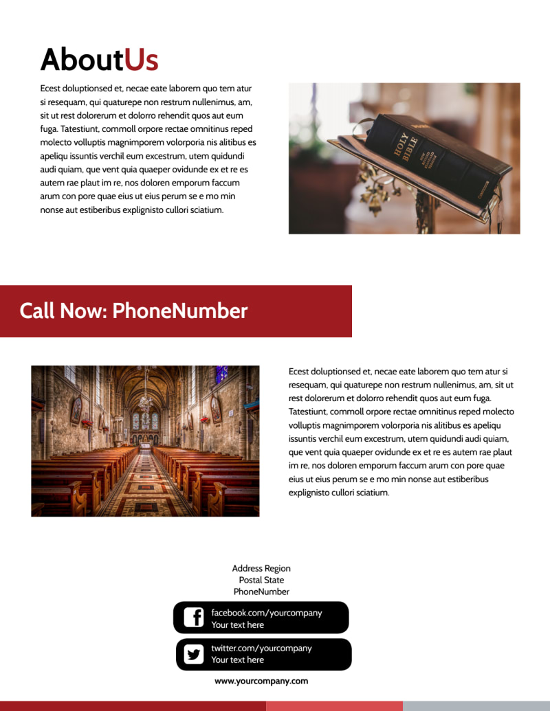 Catholic Church Flyer Template Preview 3