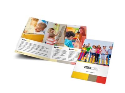 Preschool & Day Care Services Bi-Fold Brochure Template