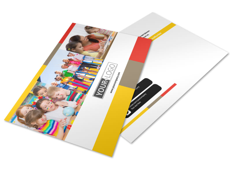 Preschool & Day Care Services Postcard Template Preview 4