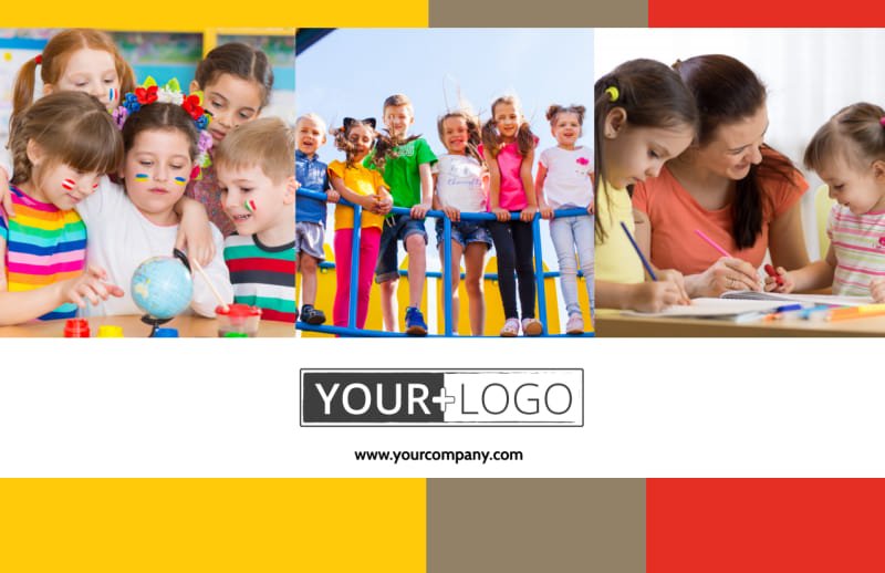 Preschool & Day Care Services Postcard Template Preview 2