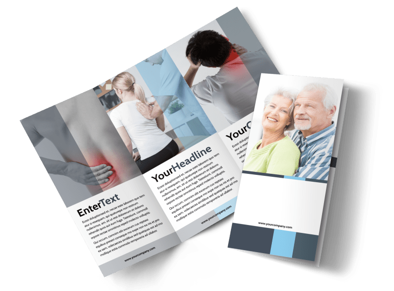 Chiropractor Clinic Brochure Template Preview 1