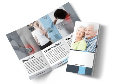 Chiropractor Clinic Tri-Fold Brochure Template preview